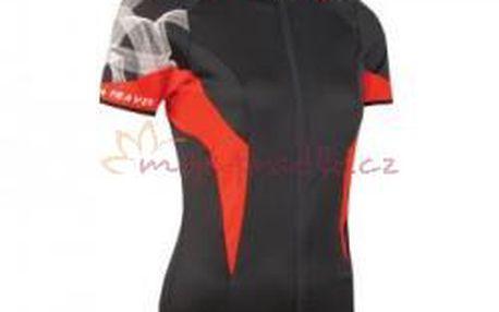 Sensor dres Race dámský kr.rukáv černá / červená
