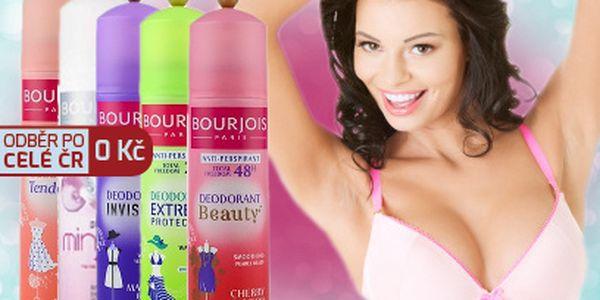 Dva deodoranty Bourjois za 115 Kč! Převzetí ve velkých městech po celé ČR ZDARMA!