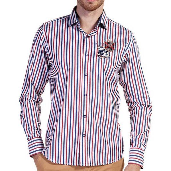 Pánská pruhovaná košile s nášivkou Galvanni