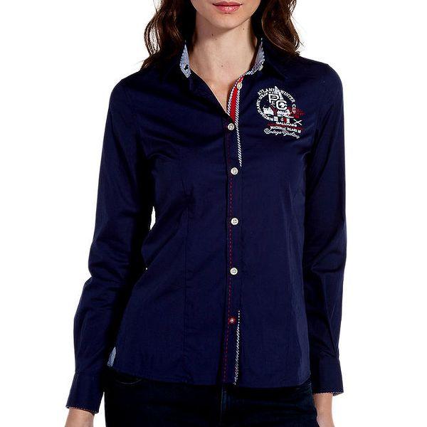 Dámská tmavě modrá sportovní košile s plachetnicí Galvanni