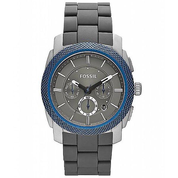 Pánské hodinky s modrou lunetou Fossil
