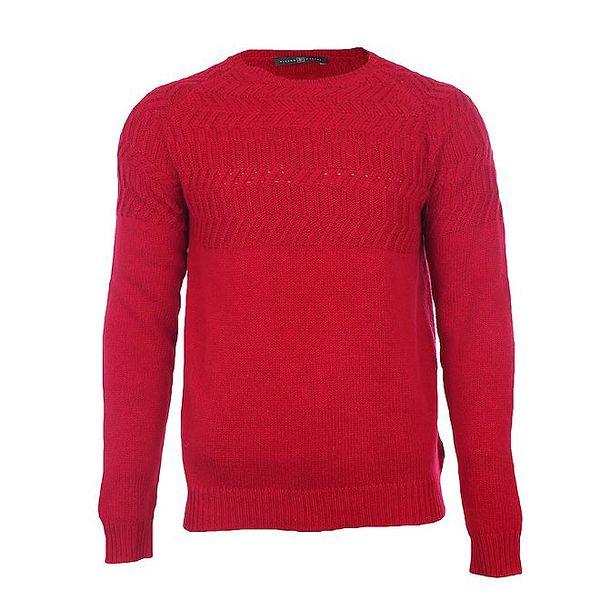 Pánský svetr červený Pietro Filipi