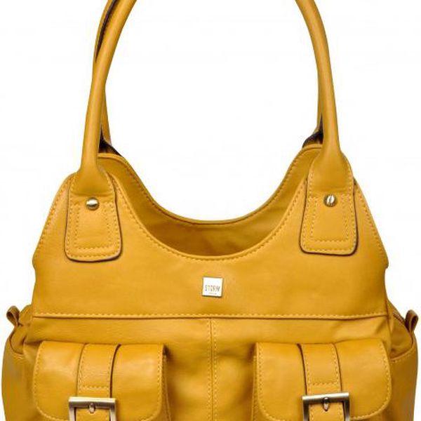 Storm Elegantní tmavě žlutá kabelka Hackford Hobo Bag Mustard STCOR14M