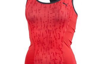 Dámské fitness tílko puma ess gym graphic tank top červená