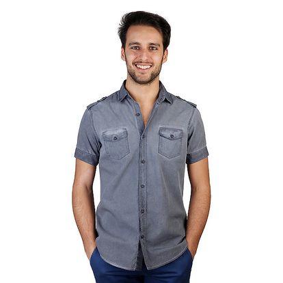 Pánská modrá košile s kapsičkami Bonavita