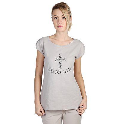 Dámské šedé tričko s krátkým rukávem Bonavita
