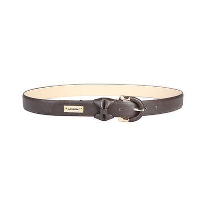 Dámský hnědý pásek s mašlí Bonavita