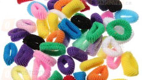 50 kusů gumiček bez kovových ozdob a poštovné ZDARMA! - 9808647