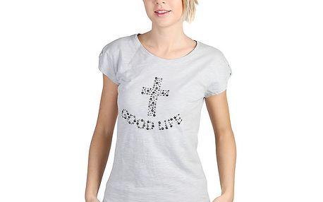 Dámské šedě melírované tričko s krátkým rukávem Bonavita