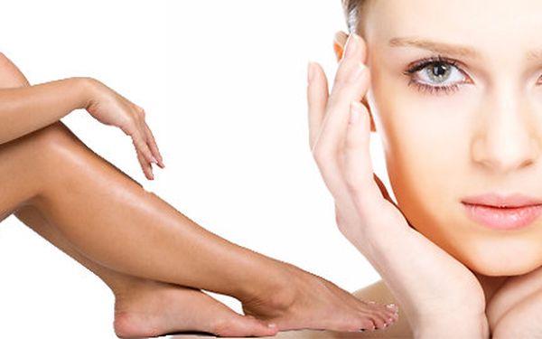 Depilace nohou teplým voskem, depilace horního rtu, úprava obočí a barvení
