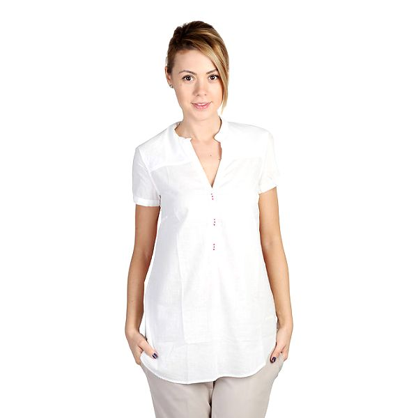 Dámská bílá košile s potiskem na zádech Bonavita