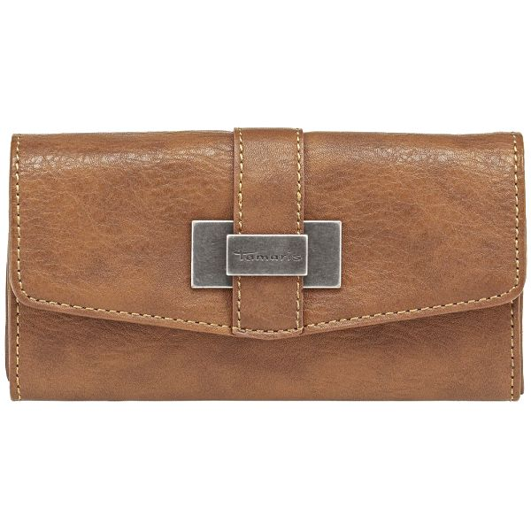 Tamaris Elegantní peněženka Becky Big Wallet with Flap Cognac A70228305