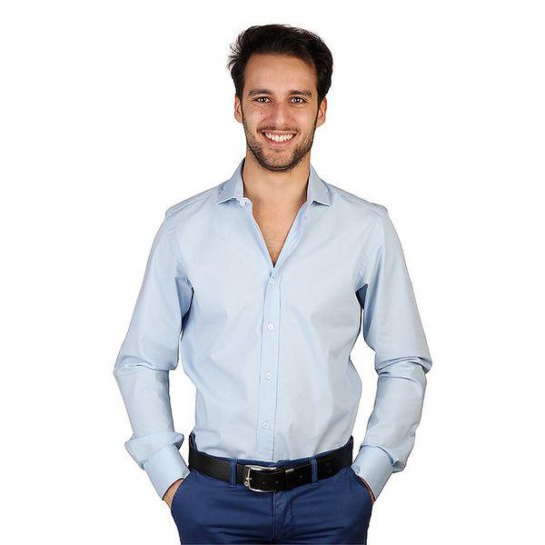 Pánská světle modrá košile s dlouhými rukávy Bonavita