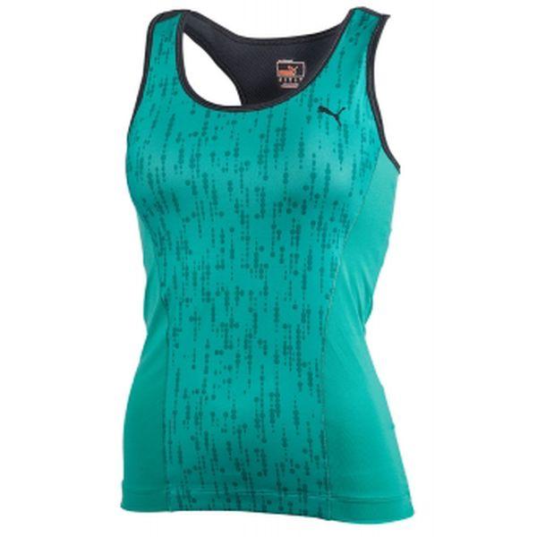Dámské fitness tílko puma ess gym graphic tank top zelená