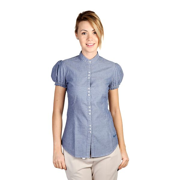 Dámská modrá košile s krátkým rukávem Bonavita