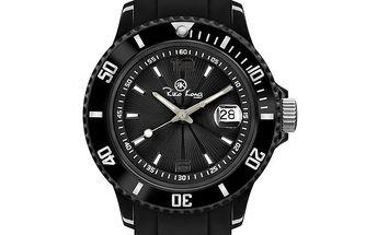 Černé analogové hodinky se silikonovým řemínkem Riko Kona