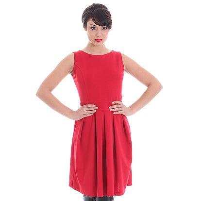 Dámské červené šaty se srdcovým průstřihem SforStyle