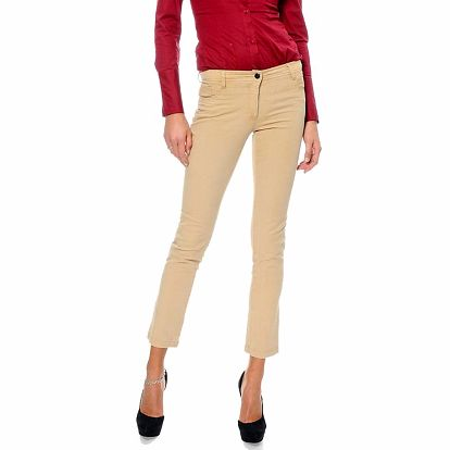 Dámské béžové capri kalhoty ODM Fashion