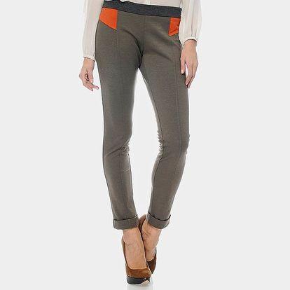 Dámské šedohnědé kalhoty ODM Fashion