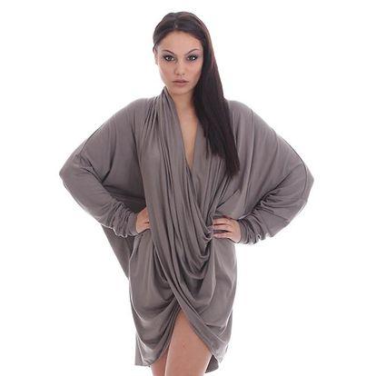 Dámské nařasené šaty SforStyle