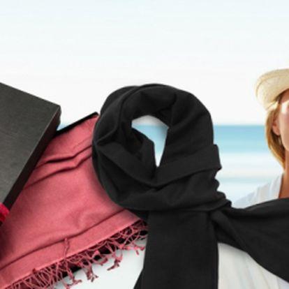 Elegantní PAŠMÍNA za skvělou cenu! Pouhých 89 Kč! Měkký, velmi příjemný a pohodlný materiál, který krásně doplní každý outfit! Vyberte si ze dvou barevných provedení - bílá nebo černá! Originální doplněk se slevou 40%!