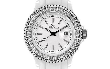 Bílé hodinky se silikonovým páskem Riko Kona