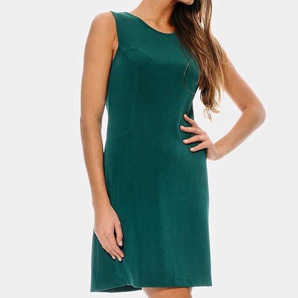 Dámské tmavě zelené šaty ODM Fashion