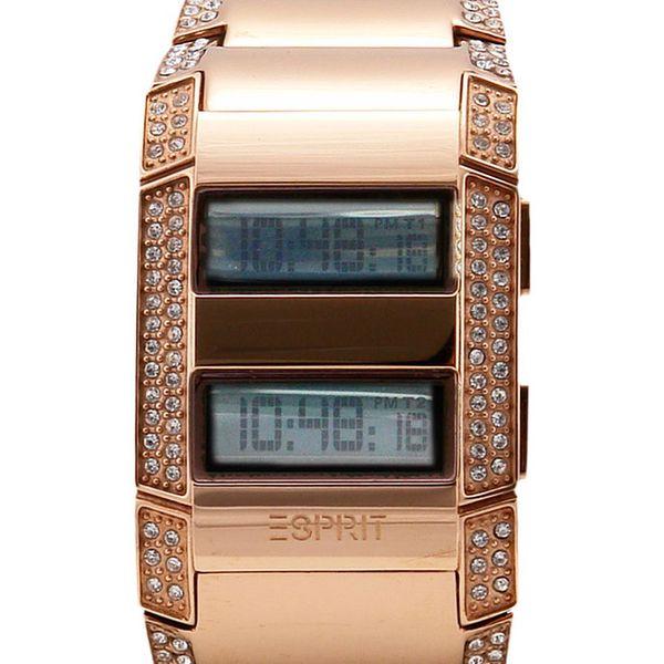 Dámské hodinky Esprit bronzové s kamínky
