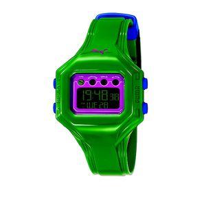 Dámské zelené digitální hodinky Puma