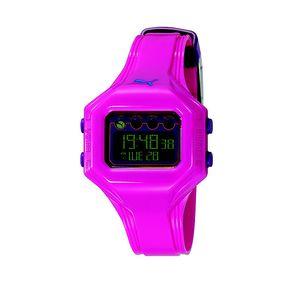 Dámské růžové digitální hodinky Puma