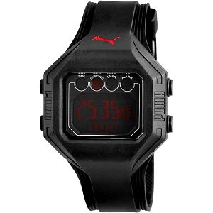 Černé vodotěsné hodinky Puma