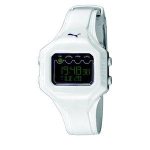 Dámské bílé digitální hodinky Puma