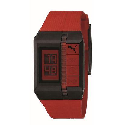Pánské červené digitální hodinky Puma