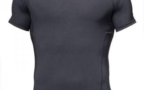 Pánské kompresní tričko Silvini Compresso MD263 black print