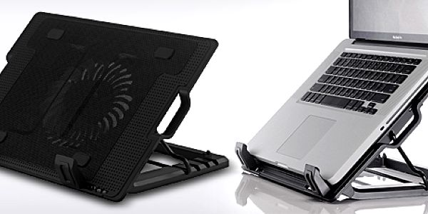 Praktická polohovatelná chladící podložka pod notebook (9 - 17″)