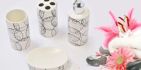 Čtyřdílná koupelnová keramická sada
