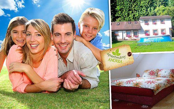 3denní nebo 4denní dovolená v apartmánech Andrea na Šumavě pro celou rodinu