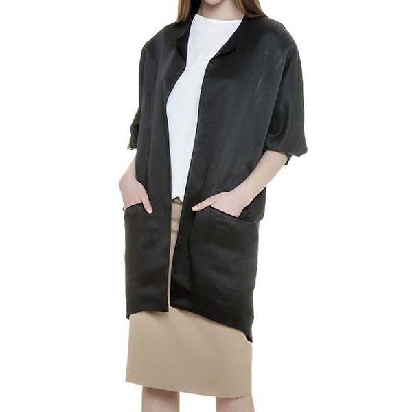 Dámský černý lesklý kabátek Gene