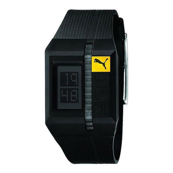 Pánské černé sportovní digitální hodinky Puma