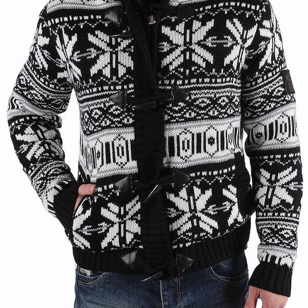 Pánská pletená bunda Rivaldi s příjemným zatepleným fleecovým materiálem