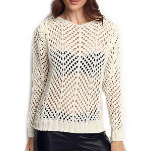Dámský krémově bílý transparentní svetr ARS Collection