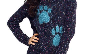 Dámský tmavě modrý svetr s rolákem ARS Collection