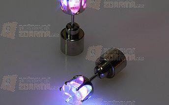 Svítící LED náušnice na párty - 1 kus - fialová a poštovné ZDARMA s dodáním do 3 dnů! - 15608718