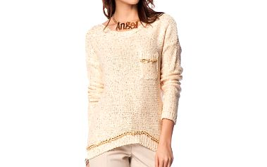 Dámský krémový svetr s průstřihem na zádech ARS Collection