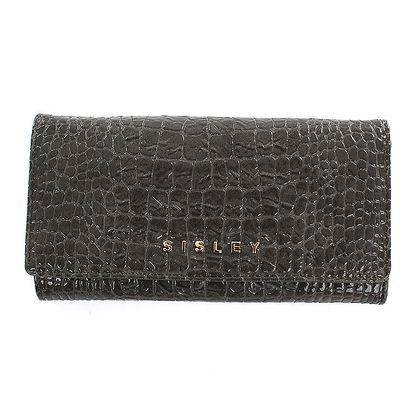 Dámská antracitová peněženka s motivem hadí kůže Sisley