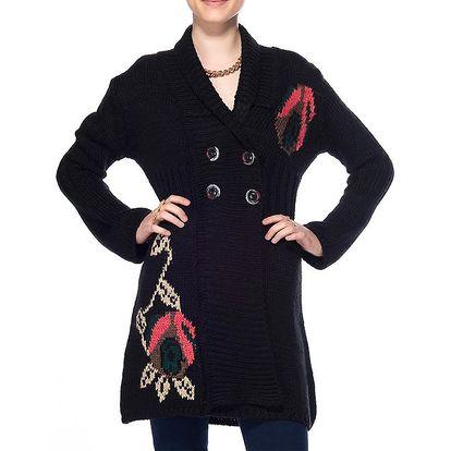 Dámský dlouhý černý kardigan ARS Collection