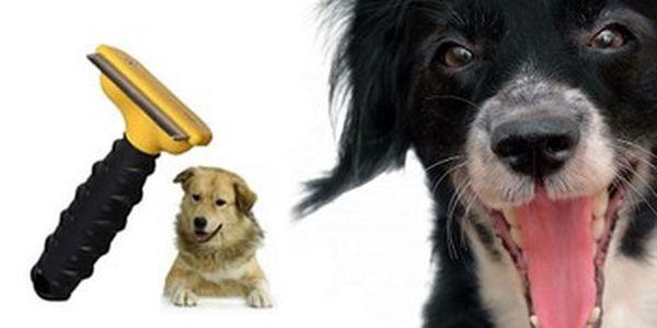 Profesionální kartáč FURminator MEDIUM na vyčesávání srsti psů i koček. Redukce línání až o 90 %!