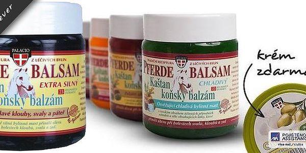 4 bylinné koňské masážní gely s kaštanem (4x 500ml) + olivový pleťový a tělový krémzdarma! Balzámy obsahují 23 léčivých bylin, které působí na bolest kloubů, žil, nohou a mnoho dalších! Hřejivý, chladivý, Aloe Vera a Forte!