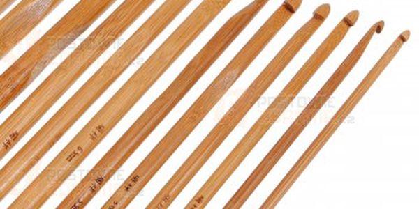Sada 12 bambusových háčků na háčkování - různé velikosti a poštovné ZDARMA s dodáním do 3 dnů! - 14206110