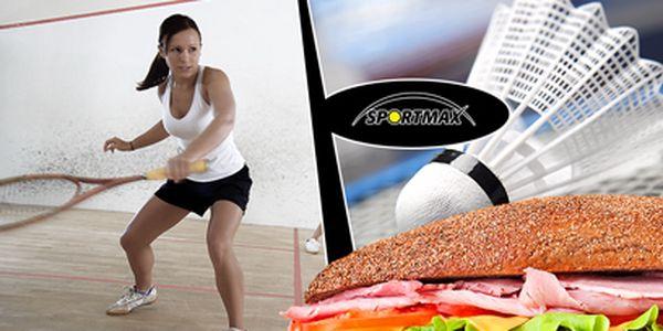 Badminton nebo squash za 199 Kč včetně fitness občerstvení pro DVA!